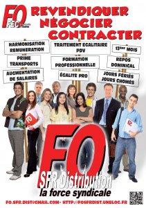 Affiche FO SFR Distribution - revendiquer
